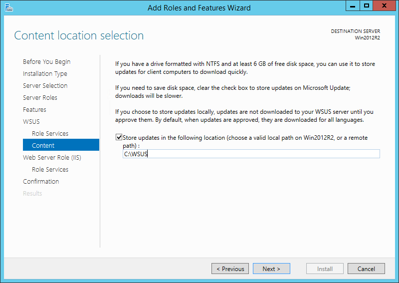 How to Setup a New WSUS Server from Scratch on Windows Server 2012