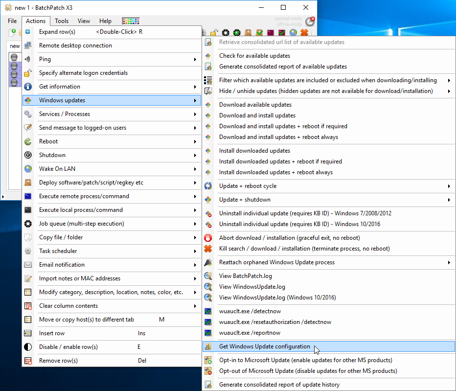 Remotely Apply Windows Updates from a Local WSUS Server to